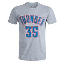 雷霆队球衣35号篮球球衣 男 t恤 夏季新款纯棉短袖 灰色