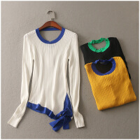特价 春季新款套头长袖修身简约针织衫女3502