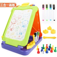 儿童绘画画板磁性写字板笔 彩色小孩婴幼儿宝宝涂鸦板1-2-3岁玩具
