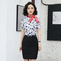 夏季短袖女装衬衫 空姐装 女士精品工作服 美容会所KTV职业装