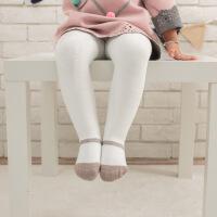 秋冬季加厚毛绒婴幼儿连裤袜女童小童白色打底裤子女宝宝大PP裤袜