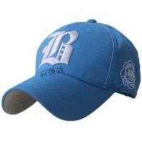 春秋冬季棒球帽字母刺绣鸭舌帽男士户外运动帽子女 可调节(55-59.5CM)