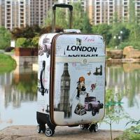 行李箱包拉杆箱万向轮28寸男女旅行箱小清新学生密码箱登机皮箱 乳白色 白色美女