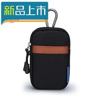 男士腰包多功能竖款小挂包休闲帆布零钱包迷你钥匙包穿皮带手机包定制