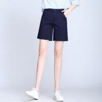 夏季新款高腰打底休闲热裤五分短裤女