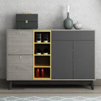 北欧简约现代超薄简易鞋柜小户型客厅组装鞋架门厅储物柜多层收纳