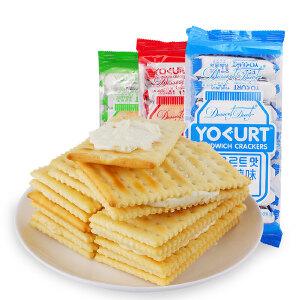 【促销】edo pack乳酸菌味夹心饼干240g 袋装薄脆营养美味休闲零食早餐饼干