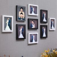 照片墙相框挂墙组合免打孔创意装饰像相册悬挂式卧室餐厅咖啡客厅2557 9个7寸组合