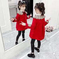 女童毛呢外套新款韩版儿童中大童加绒呢子大衣