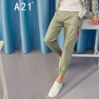 A21以纯线上品牌2018春季新品休闲裤男装低腰修身小脚休闲长裤4811041004