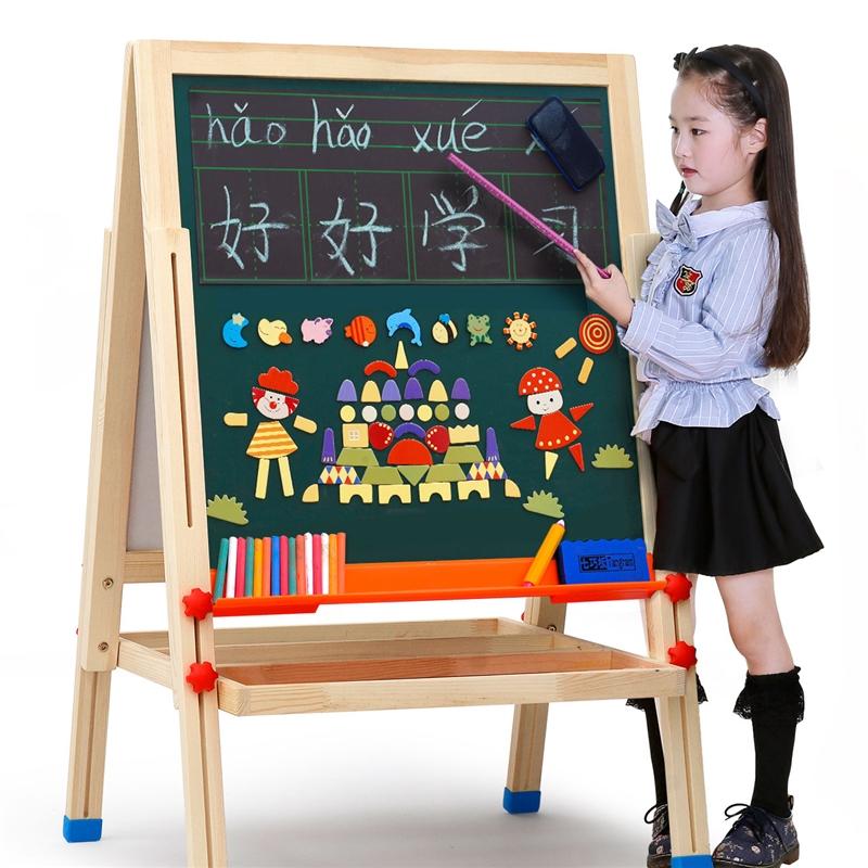 儿童画板磁性小黑板支架式教学写字板画画家用涂鸦板