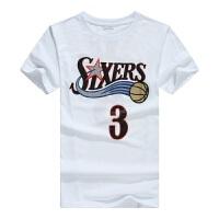 夏季新款T恤篮球衣阿伦艾弗森3号经典T��76人队球衣 篮球短袖T恤 男士夏装X