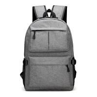 男士双肩包 韩版休闲帆布背包 商务潮流时尚学生书包旅行包电脑包