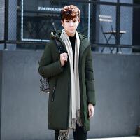 男士长款羽绒服冬季新款韩版修身连帽加厚外套青年学生
