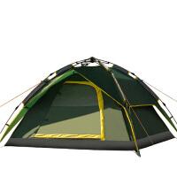冬天季用户外帐篷3-4人全自动保暖加厚野外露营帐拉绳款账逢套装