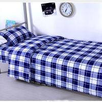 格子四件套小学生被子宿舍三件套床上 单人 学生ins风高低床