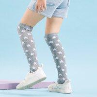 amii童装2018春秋新款女童打底袜子女孩儿童弹力高筒袜袜