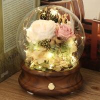 ????进口永生花蓝牙音响音箱玻璃罩diy七夕情人节玫瑰送女友生日礼物