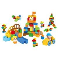 儿童积木玩具 游乐园大颗粒拼装积木玩具男孩儿童早教益智礼盒装生日礼物