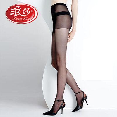 浪莎丝袜女 正品6双防勾丝超薄款连裤袜性感打底袜子肉色黑丝袜 浪莎正品