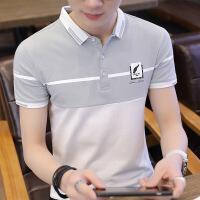 男士短袖T恤夏季翻领polo衫韩版修身打底衫潮流半袖体恤纯色衣服