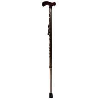 鱼跃(YUWELL)铝合金拐杖手杖助步器老人四脚可伸缩防滑助行器残疾人肘靠拐棍YU821