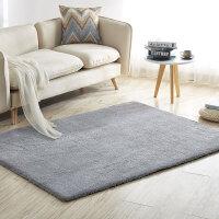 客厅卧室沙发茶几地毯简约现代美式欧式地垫北欧床边纯色满铺定制