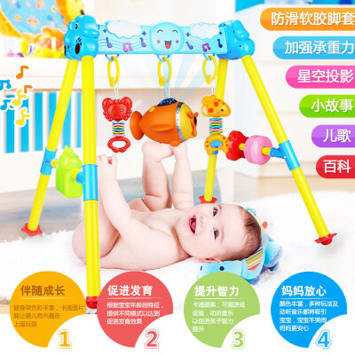 男孩婴儿玩具健身架宝宝 0-1岁健身器儿童3-6-12个月新生儿音乐玩具 早教 益智玩具