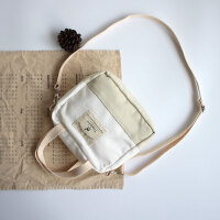 帆布手机小包包 日系小清新文艺斜跨手提包 夏天新款斜挎森女包