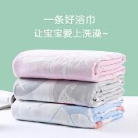 【限时抢购:59】新生婴儿浴巾纯棉儿童纱布被子夏季吸水加厚宝宝洗澡巾盖毯