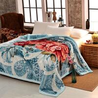 家纺2017秋冬款棉被子毛毯加厚双层冬季珊瑚绒保暖双人法莱绒厚云毯子盖毯 200x230cm(8斤)双层加厚西班牙盖毯