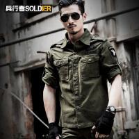 男户外长袖棉衬衣 军迷衬衫 防刮 战术服装战术服 军衬 军迷服装 军装风格