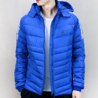 Adidas阿迪达斯 男子 运动羽绒服 冬季防风连帽保暖羽绒外套 BQ8570