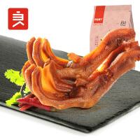 良品铺子 甜辣鸭掌卤味真空美食小吃特产零食熟食小包装155gx1袋
