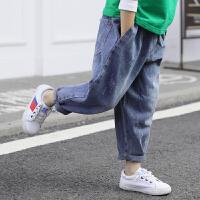 男童秋冬装裤子儿童牛仔裤洋气春装宽松长裤
