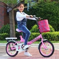 折叠儿童自行车16/20寸7-10-15岁男女中小学生青少年减震单车