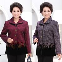 中老年女装秋装外套60-70岁老人家衣服奶奶装春装妈妈装外套翻领