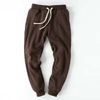 男士冬季保暖运动裤加绒加厚裤子修身休闲卫裤哈伦小脚长裤男