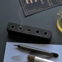 沉香线香盒卧香炉线香插香道茶道木制室内家用熏香炉 苏窗观香(赠黄铜书签)