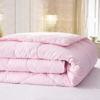 蚕丝被子被芯秋冬夏凉被褥公司礼品被会销单双人棉被T 压花棉粉色 1.5*2.0米 3斤