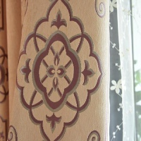 窗帘成品加厚 遮光遮阳防晒 双层织造竖条纹简约现代