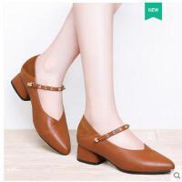 莱卡金顿新款女鞋尖头内增高低帮浅口套脚铆钉单鞋凉鞋1600