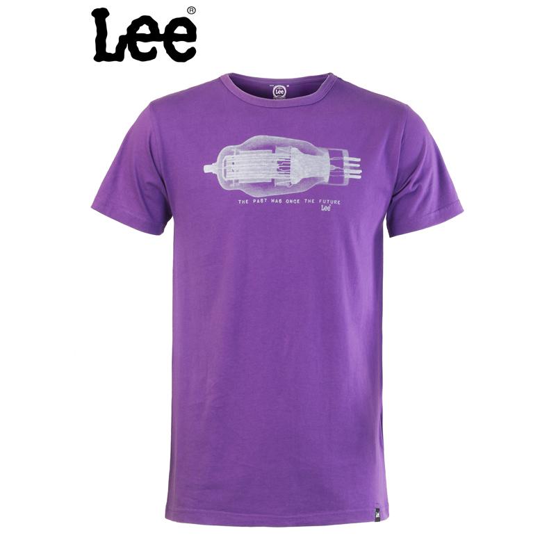 Lee 【断码】男装T恤短袖印花紫色男式L10980J06403