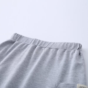 AMII童装2017夏季新款男童休闲简约套装中大童翻领印花运动装