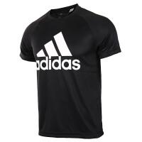 adidas阿迪达斯男子短袖T恤2018新款休闲运动服BK0937