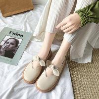 户外时尚休闲单鞋女士平底鞋气质女鞋韩版舒适晚晚鞋