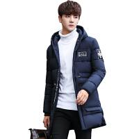棉衣男士中长款冬季外套韩版修身连帽加厚棉服青年保暖袄子潮流服
