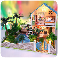 来自星星的你diy小屋手工拼装大型别墅男生礼物建筑房子模型玩具