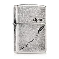 zippo打火机正版 原装芝宝防风复古纯铜古银煤油男士个性定制