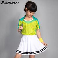 新款夏季儿童羽毛球服套装男童速干透气吸汗童装乒乓球服女童